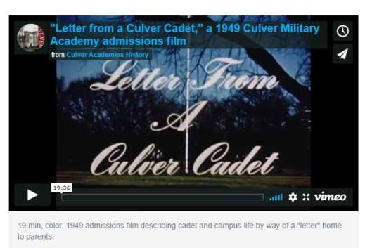 letter from cadet 1949 film icon